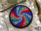 Limited Production Mandala Embroidered SDS Hook and Loop Patch