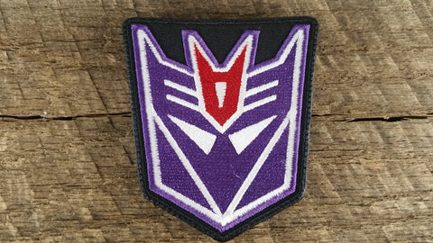 TRANSFORMERS Morale PATCH AUTOBOT Decepticon MOVIE LOGO IRON ON glow in the dark