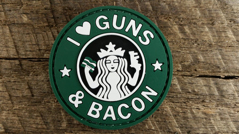 I Love Guns and Bacon PVC Patch
