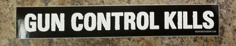Gun Control Kills Vinyl Sticker