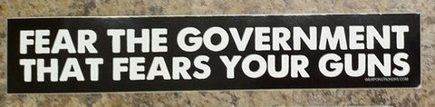 Fear the Government Vinyl Sticker