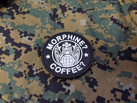 Morphine? Coffee? Starbucks PVC Patch