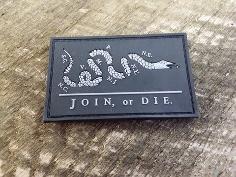 Join or Die PVC Patch