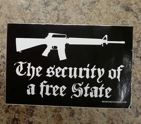 The Security of a Free State Vinyl Sticker