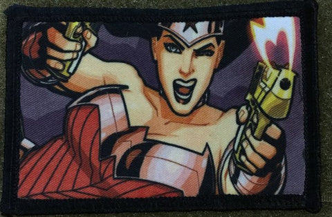 Wonder Woman with Guns Hook and Loop Patch