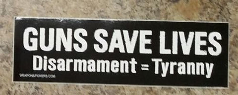 Guns Save Lives Vinyl Sticker