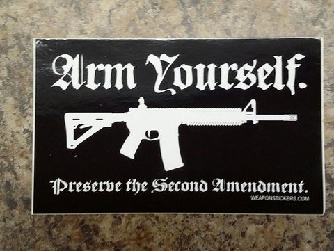 Arm Yourself Vinyl Sticker