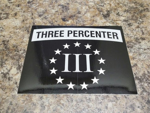 Three Percenter Vinyl Sticker