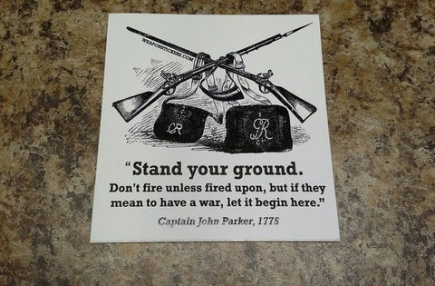 Stand Your Ground Vinyl Sticker
