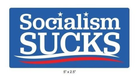 Socialism Sucks Vinyl Sticker