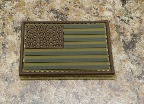 American Flag OD Green PVC Patch