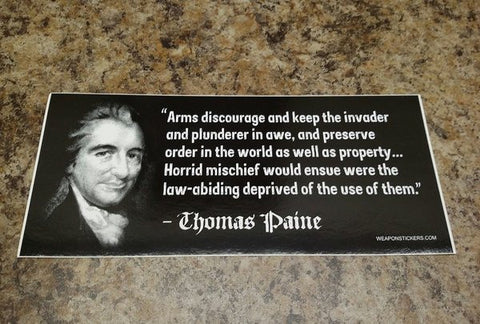 Thomas Paine 2 Vinyl Sticker