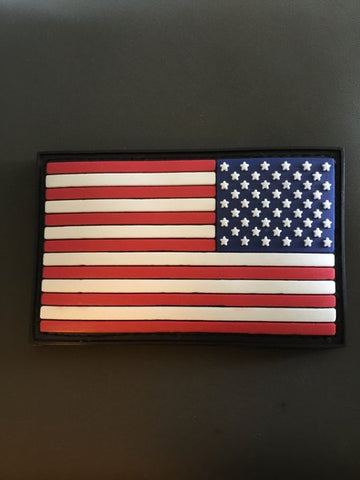 Reverse American Flag PVC Patch