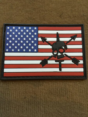 American flag with Nos Defions PVC Patch