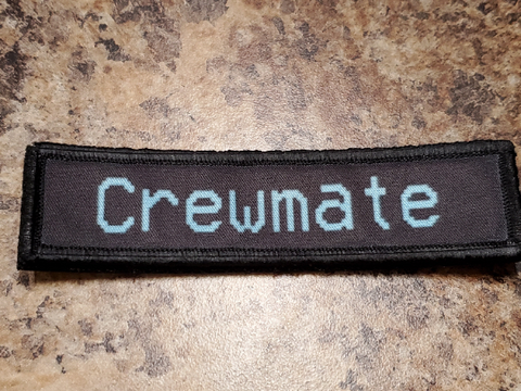 "Among Us Crewmate/Imposter 1""x4"" Sublimated Patch"