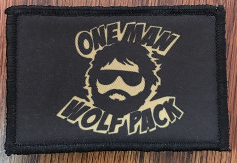 One Man Wolfpack Hook and Loop Patch