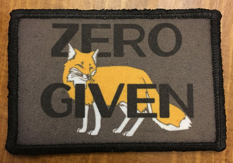 Zero Fox Given Hook and Loop Patch