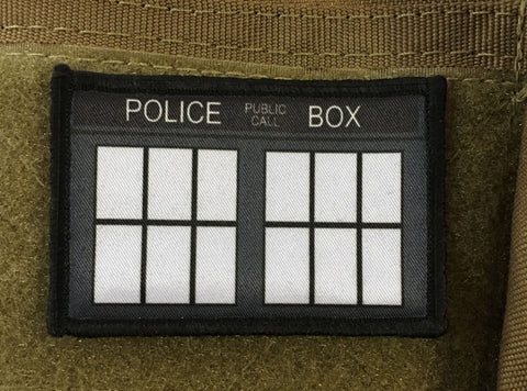 Doctor Who Police Box 2x3 Patch
