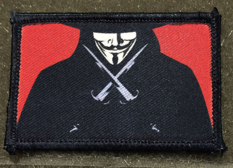 V for Vendetta Hook and Loop Patch
