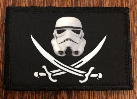 Stormtrooper Calico Jack Hook and Loop Patch