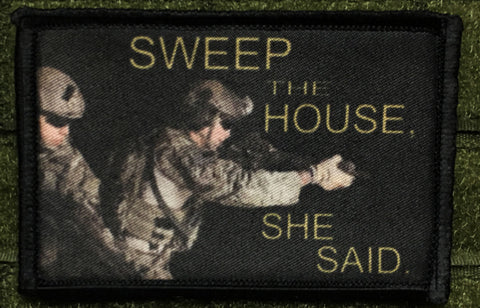 Sweep the House Hook and Loop Patch