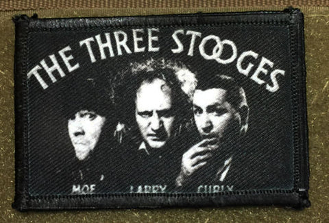 The Three Stooges Hook and Loop Patch