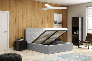 Simon Light Grey Bed And Mattress