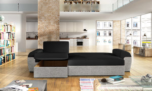 Manchester Corner Sofa Bed Seating Area Savana 16 Base Cayenne 1113