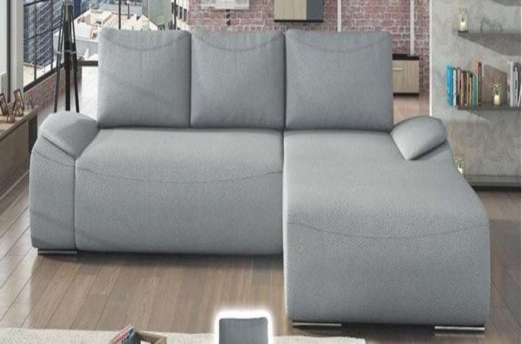 Spino  Corner Sofa Bed Right Corner Light Grey