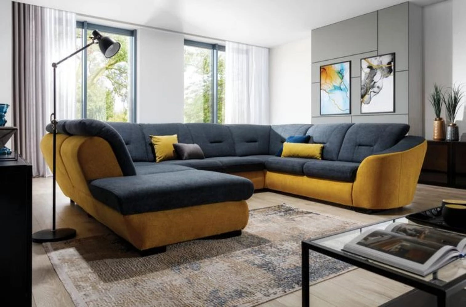 Vincent XL Corner Sofa Bed