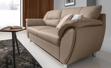 Amigo Sofa 3 Seater Light Brown Eco Leather