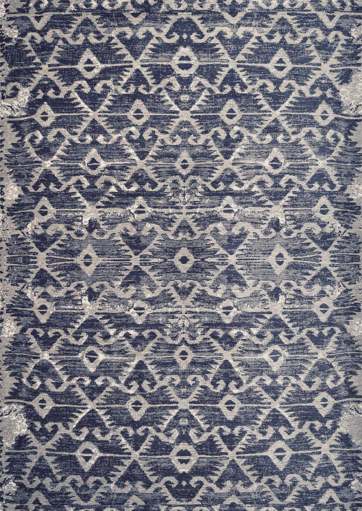 Antonia Sky Blue Easy Clean Rug