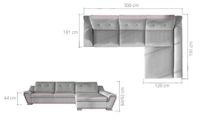 Galac Mini Corner Sofa Bed