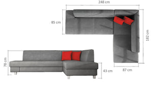 Lorna Corner Sofa Bed