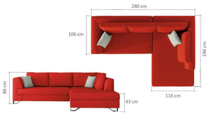 Mohico Corner Sofa Bed