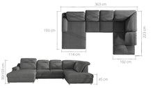Manaro XL Corner Sofa Bed