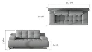 Oso Sofa Bed Milton 03 sand