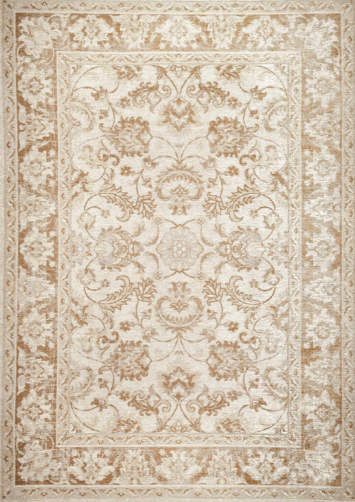 Teb Cream Blue Easy Clean Rug