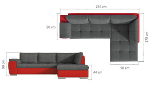 Tokso Corner Sofa Bed