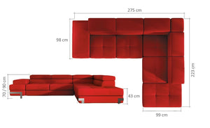 Tonisa Corner Sofa Bed