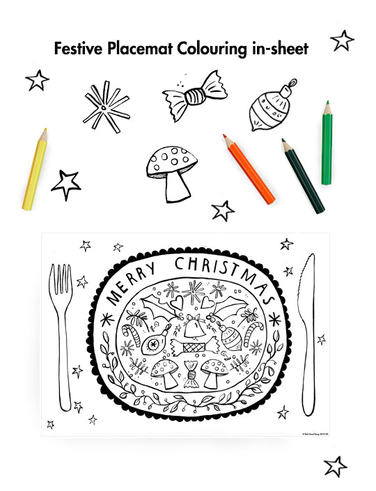 Festive Placemat Colouring in Sheet - Printable