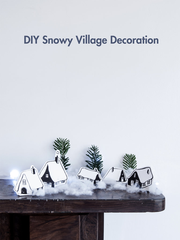 DIY Miniature Snowy Village.