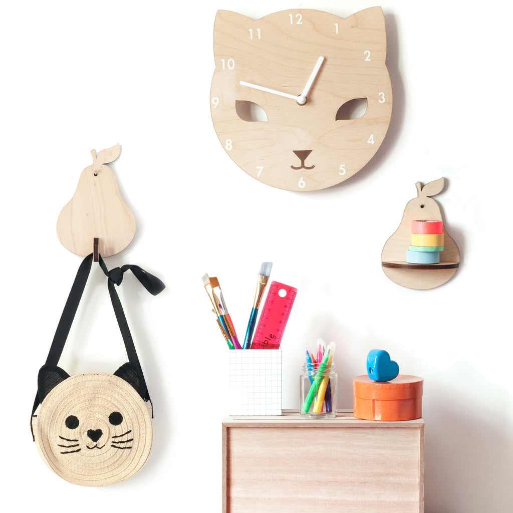 Wooden Mini Shelves and Hooks