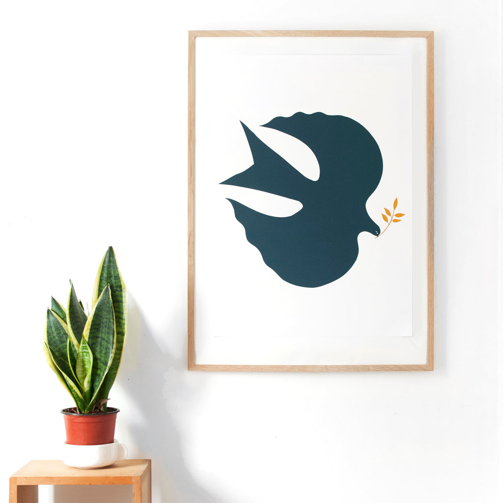The Blue Bird Screen Print - A2