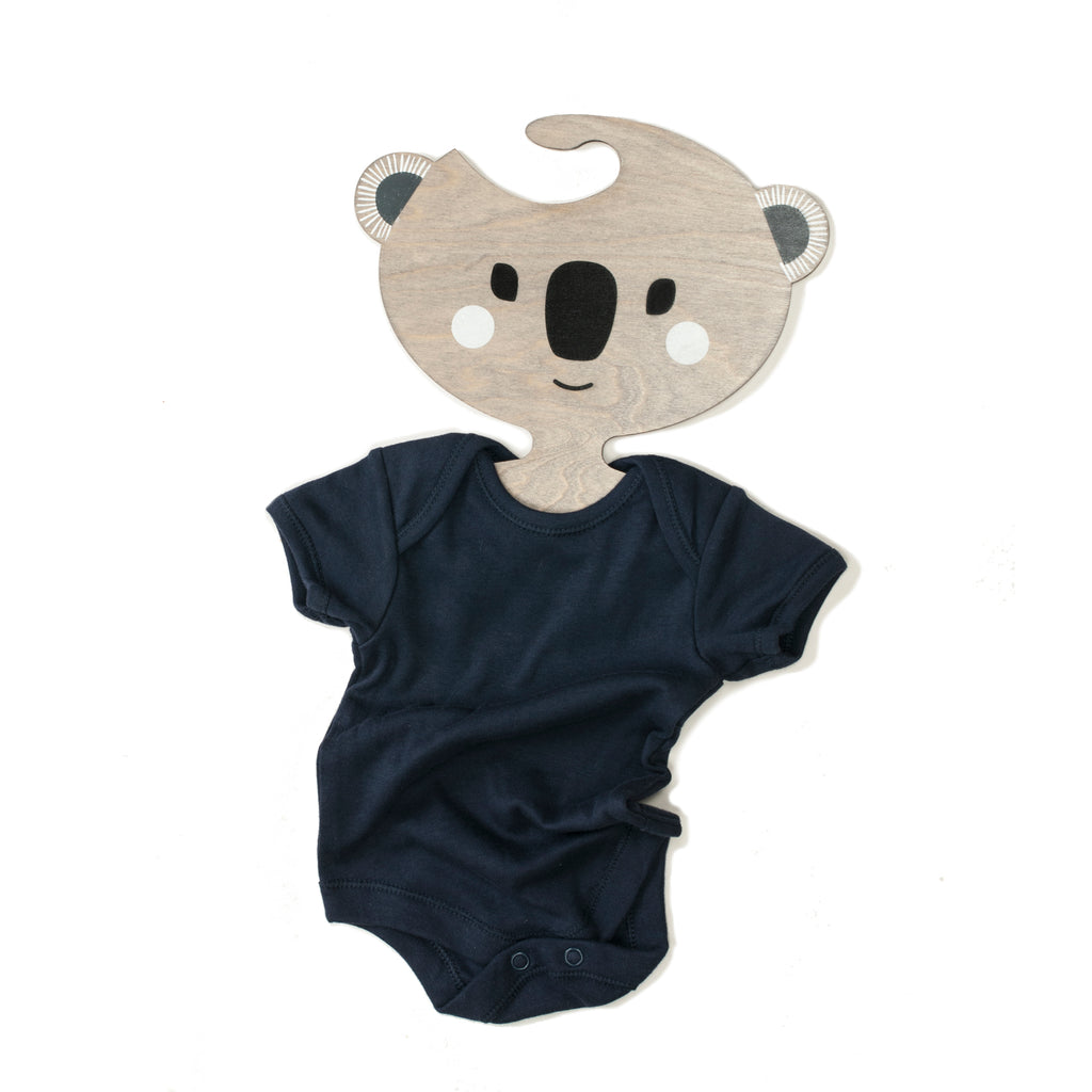 New Koobah the Koala  Wooden Clothes Hanger for Kid's rooms