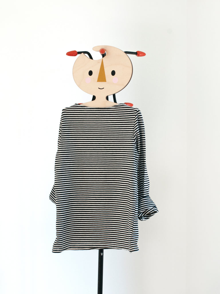 Wooden Clothes Hanger - Minimalist Face design