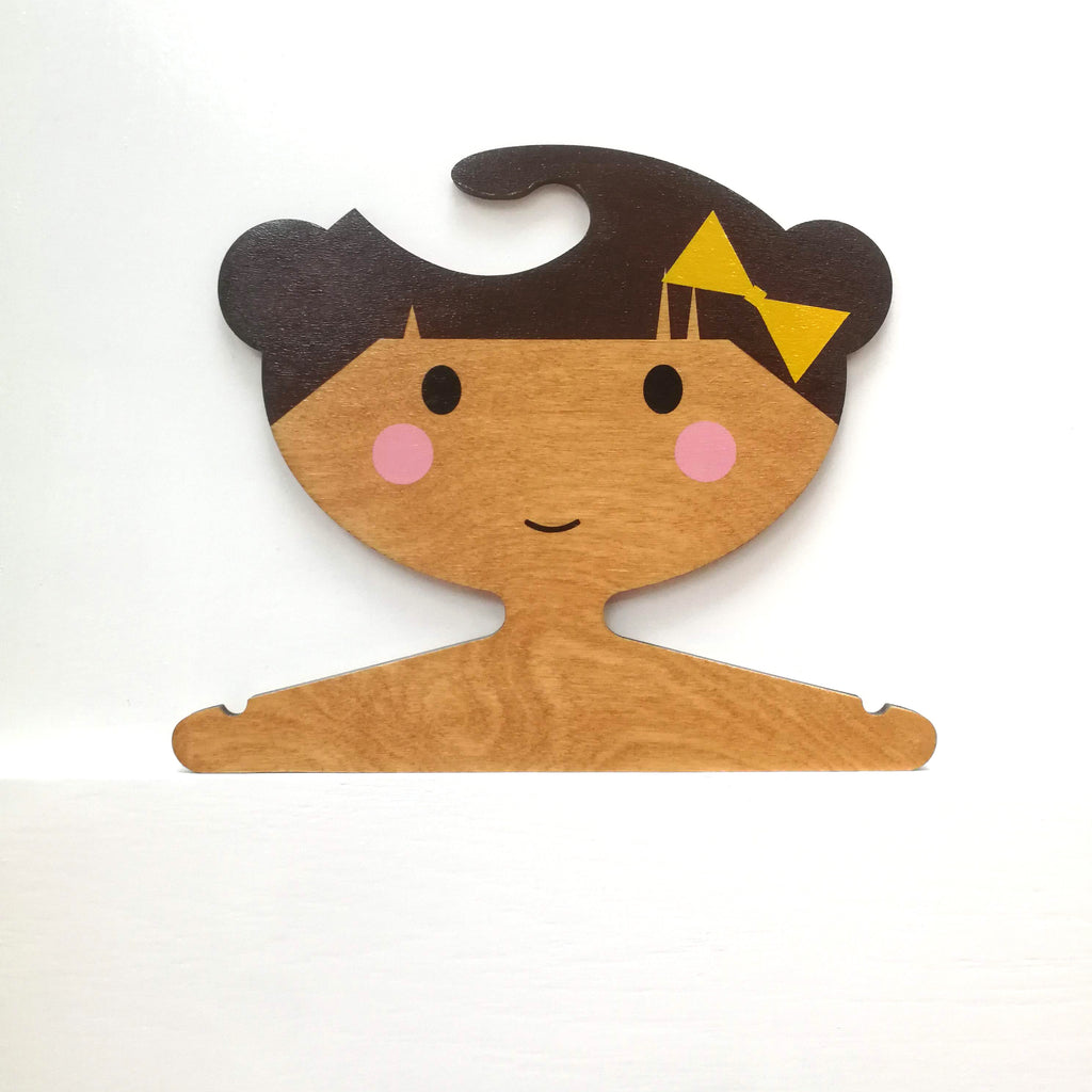 Design your own!   Order a Personalised Children's Wooden Clothes Hanger.
