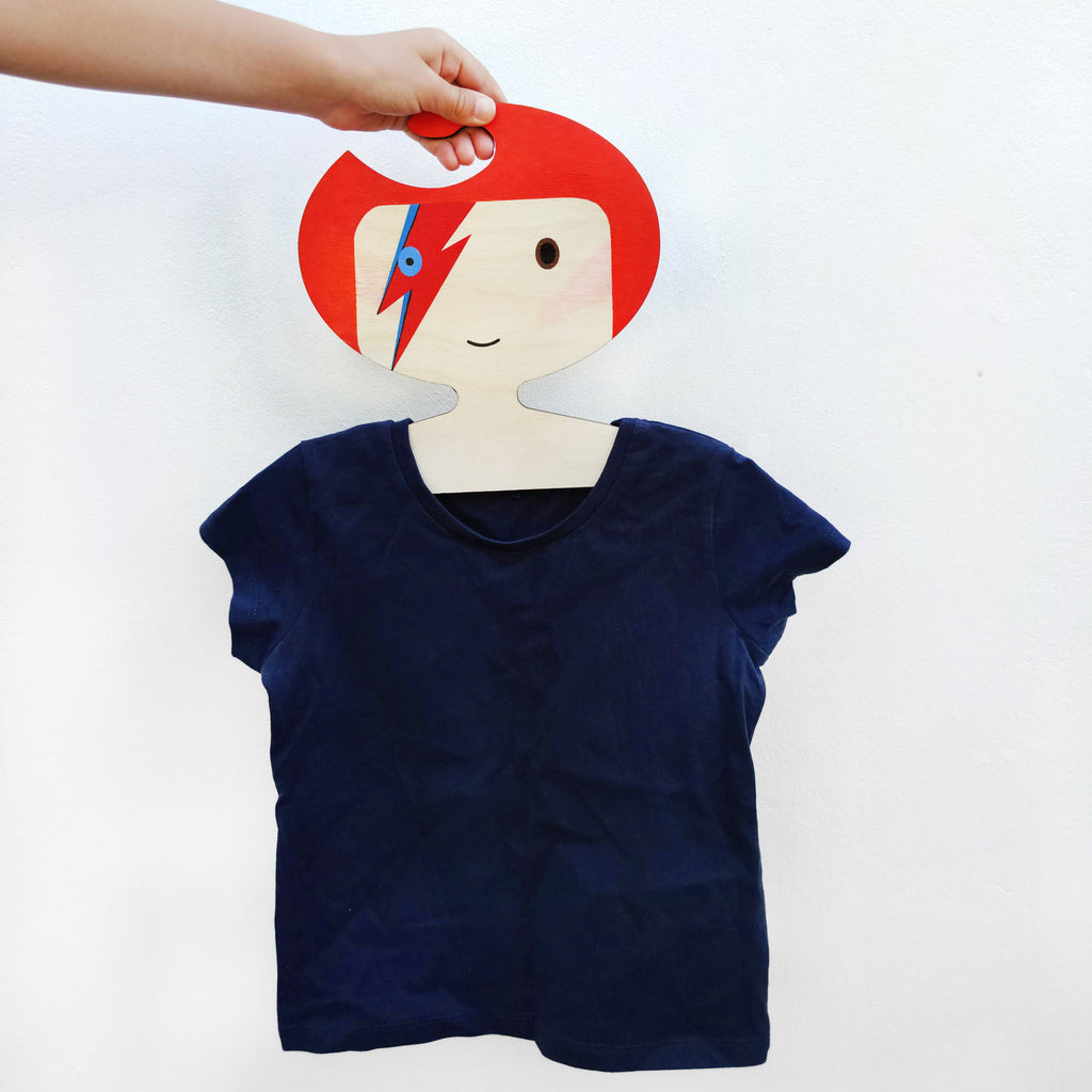 The New David Bowie Clothes Hanger - * new bigger hanger size too!