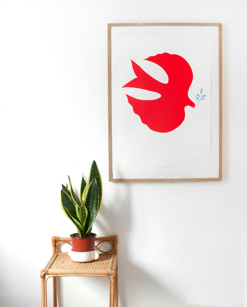 The Red Bird Screen Print