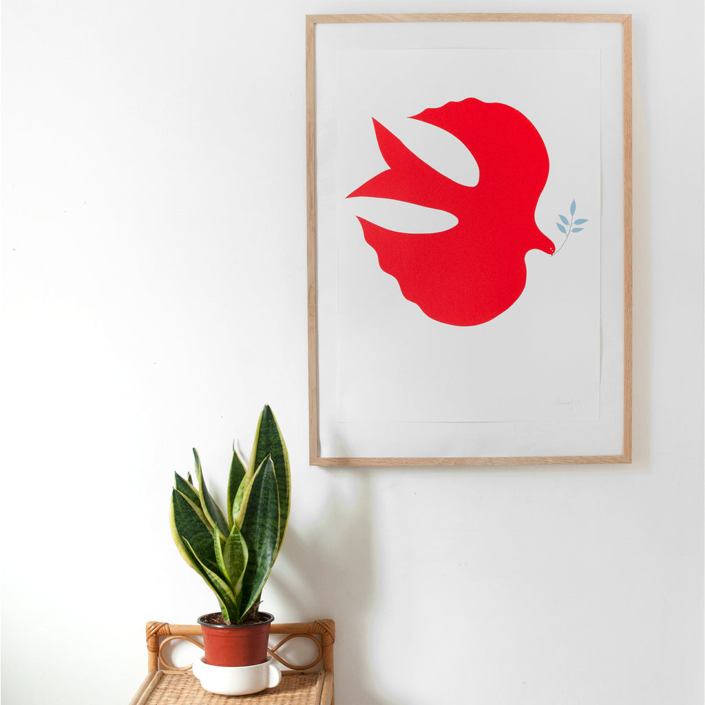 The Red Bird Screen Print - A2